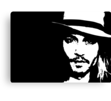 Johnny Depp - Tee Canvas Print