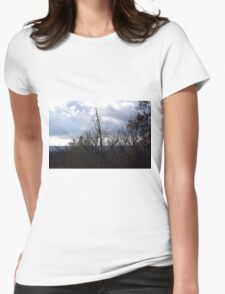 clouds and trees Womens Fitted T-Shirt