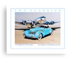 Two Classics  1937 Boeing 307 & 1936 Cord 810 Canvas Print