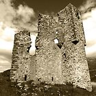 Ardvreck Castle in Sepia by kalaryder