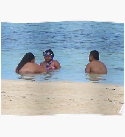 three bathers Poster