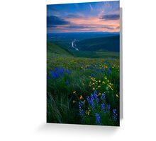 Selah Sunset Greeting Card