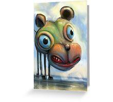 Hippo Dog Greeting Card