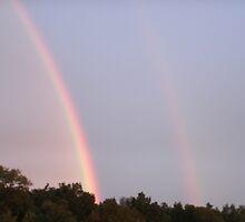 Rainbow in Ohio by Mirenda Wells