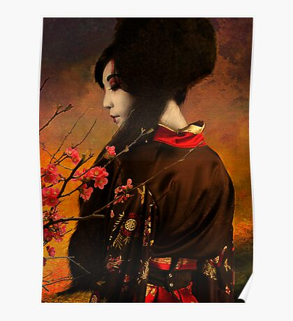 Geisha Series - With Quince Poster