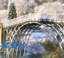Ironbridge 1125 Happy Christmas Sticker