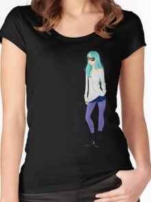 Purple stockings Women's Fitted Scoop T-Shirt