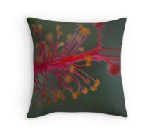 Hibiscus Stamen Throw Pillow
