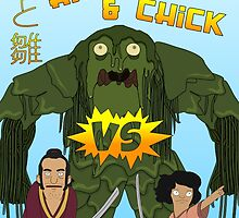 Hawk and Chick VS the Seaweed Monster by bookishkate