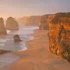 Red Glow, 12 Apostles at Sunset by Robert Stephens
