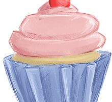 Pretty Pink Cupcake by Nicole Cischke