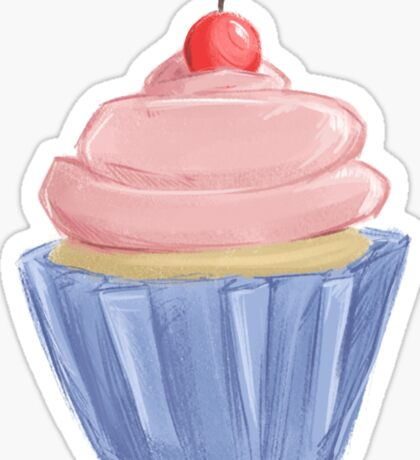 Pretty Pink Cupcake Sticker