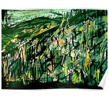 showing green... fired hillside forest Poster
