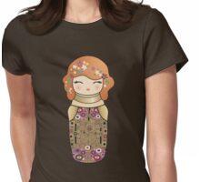 Kokeshi cute Klimt girl Womens Fitted T-Shirt