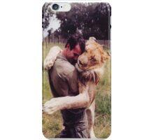 Man Hugging His Lion iPhone Case/Skin