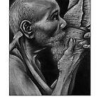 Conch Blower, Palau - White by Yvonne C. Neth