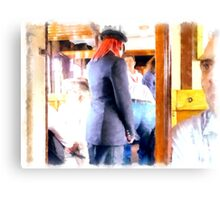 Controller in the railway wagon Canvas Print
