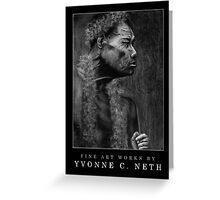 Pohnpeian Elder - Black Greeting Card