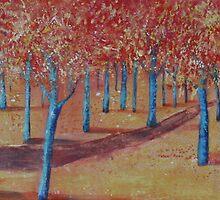 Forest Way- Autumn by Christine Clarke