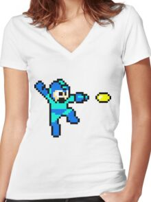 Blue Bomber Women's Fitted V-Neck T-Shirt