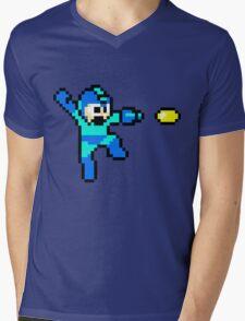 Blue Bomber Mens V-Neck T-Shirt