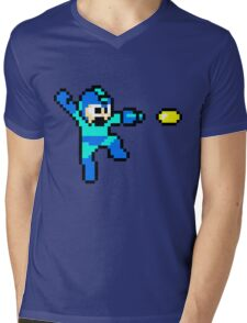 Blue Bomber Mens V-Neck T-Shirt