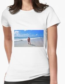 Troy - Bahama Beach  Womens Fitted T-Shirt