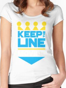 KC Royals: Keep the Line Moving Women's Fitted Scoop T-Shirt
