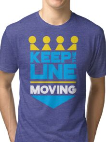 KC Royals: Keep the Line Moving Tri-blend T-Shirt