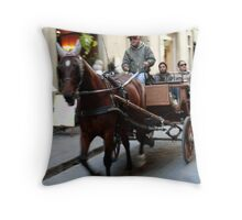 """Firenze in """"carrozzella""""Italy Throw Pillow"""