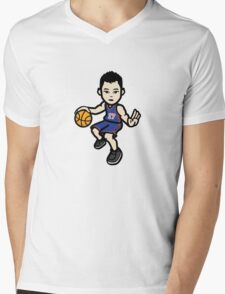 Jeremy Lin - Blue Mens V-Neck T-Shirt