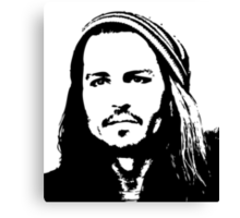 Johnny Depp #2 - clothing, stickers & iPhone cases Canvas Print