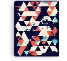 Geometric Paint Triangles Canvas Print