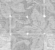 Meditation in grey Sticker