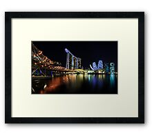 iLight @ Marina Bay Sands Framed Print