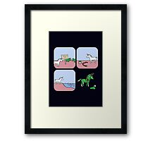 Unicorn and Narwhals as Triceratops - story Framed Print
