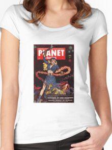 Woman vs. Alien Women's Fitted Scoop T-Shirt