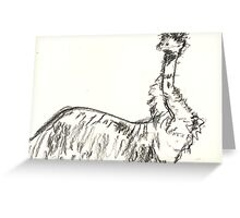 Bemused Emu Greeting Card
