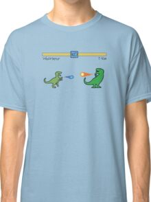 Dinosaur Fighter Game - Velociraptor vs T-Rex Classic T-Shirt
