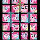 The Many Faces of Pinkie Pie by anjila