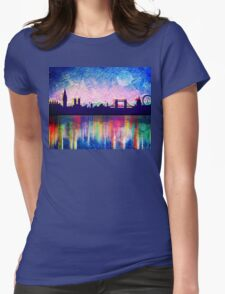 London in blue  Womens Fitted T-Shirt