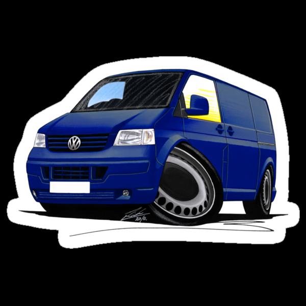 VW T5 Transporter Van Indian Blue by Richard Yeomans