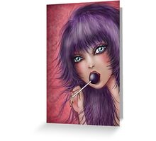 Lollipop Doll Greeting Card