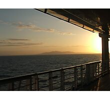 Sunset Aboard Photographic Print