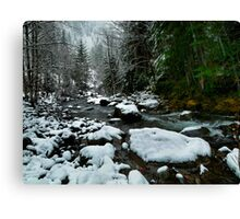 Snow At Smith River Canvas Print