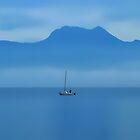 The Sailingboat in Fog by Imi Koetz