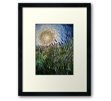 Lavender in Motion Framed Print
