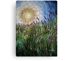 Lavender in Motion Canvas Print