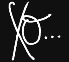 Handwritten XO (White) by Faded Fabrics