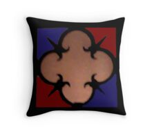 X marks the spot large Throw Pillow